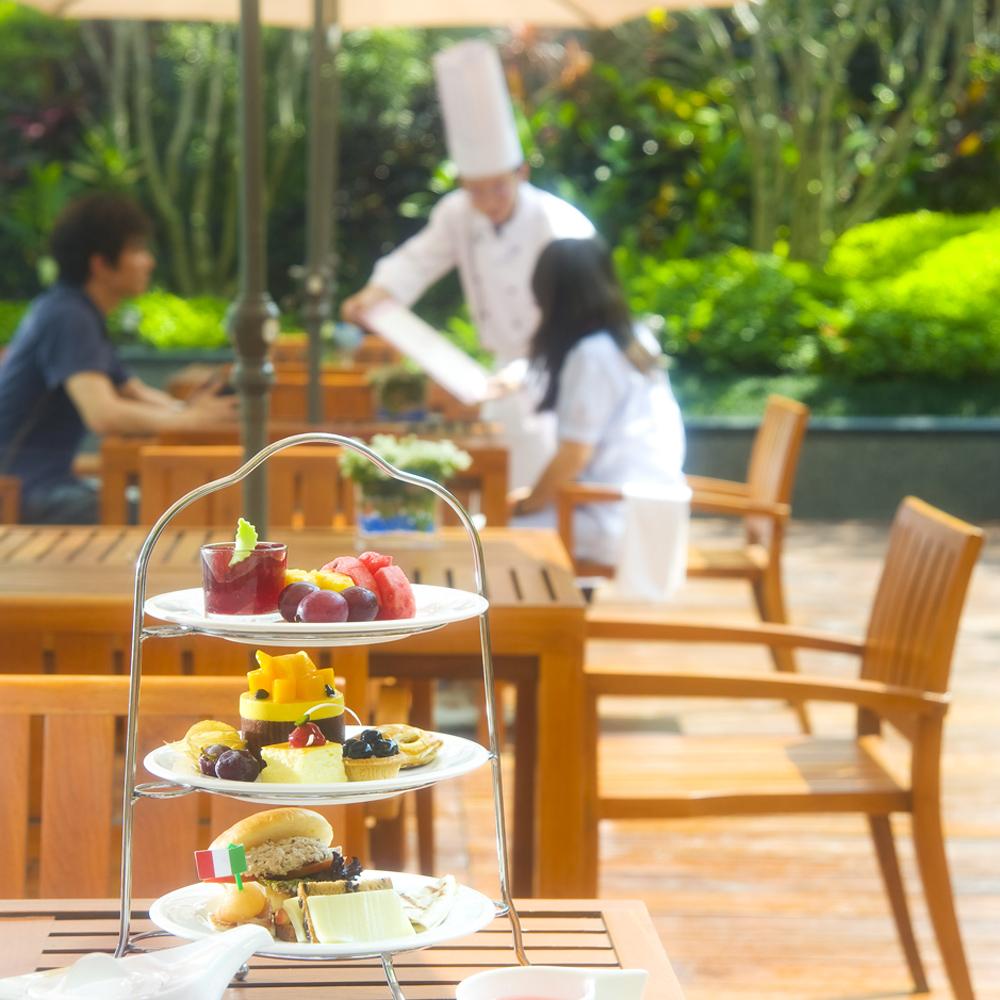 【電子票券】台中裕元酒店1F玫瑰烘焙坊2人英式下午茶餐券假日使用不加價