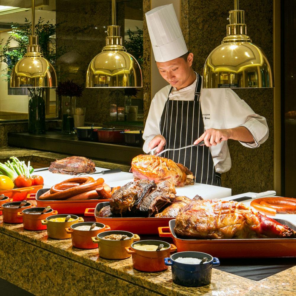 【電子票券】台北國賓飯店明園自助式吃到飽午餐或晚餐券(假日使用每券+150 1套2張)