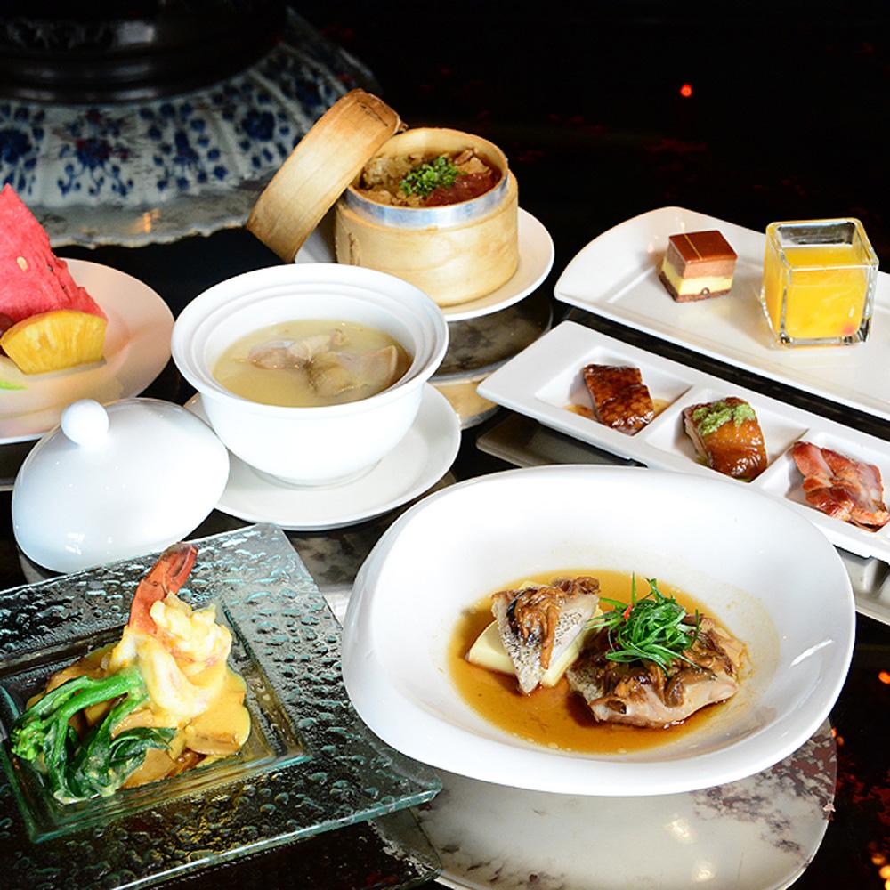 【電子票券】台北君品酒店17F頤宮中餐廳午餐或晚餐時段廣東菜套餐券(假日不加價)