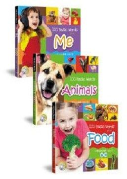 小寶貝的基礎100字:食物、我的世界、動物樂園(全套3冊+3CD)100 Basic Words about Food、Me、Animals