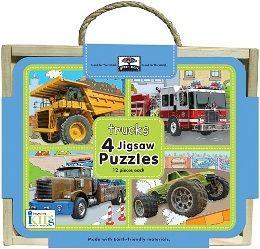 Jigsaw Puzzle Box Sets(4 Jigsaw Puzzles)Trucks:幼兒益智拼圖.車車主題(外文書)