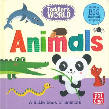 Animals:A little board book of animals with a fold-out surprise(Toddlers World)可愛動物(單字厚頁書)(外文書)