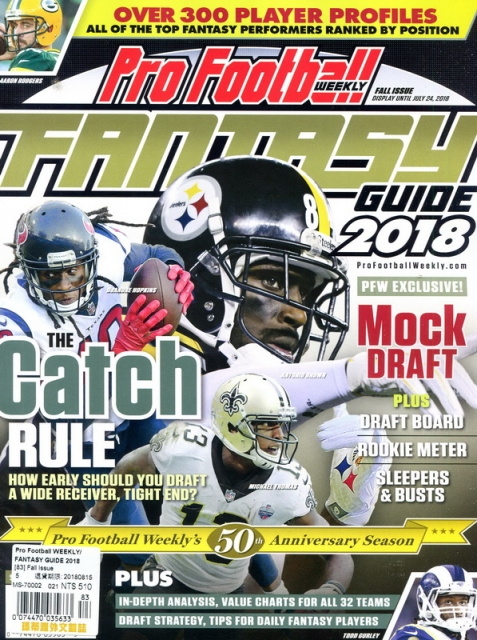 Pro Football WEEKLY FANTASY GUIDE 2018 秋季號 2018