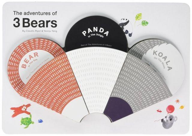 The Adventures Of 3 Bears 熊熊冒險故事 趣味圖畫紙卡(外文書)