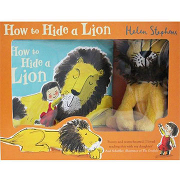 How To Hide A Lion Gift Set 獅子藏身大作戰 禮物書(1精裝小書+1玩偶 )(外文書)