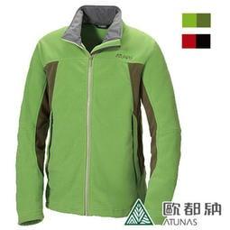 丹大戶外【ATUNAS】歐都納男款POLARTEC刷毛保暖立領外套/質輕透氣乾爽A-G1159M草綠
