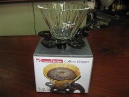 苗慄咖啡-Tiamo V01 玻璃濾杯組(直線條)  附量匙 1-2杯份 (5色)