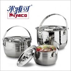 【米雅可】#304不鏽鋼三件式調理鍋組(16.18.22cm)