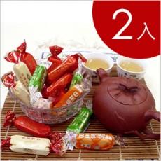 【萬竹食品】萬竹牛軋糖(低糖系列 600g/包)-2入組 綜合