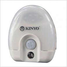 【KINYO】插電式光控+人體紅外線LED感應燈(ASL-710)