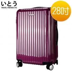 【EQ5002-01】正品ITO 日本伊藤潮牌 28吋 PC+ABS鏡面拉鍊硬殼行李箱2095系列-紫色