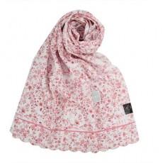 【DAKS】浪漫花卉抗UV純棉薄圍巾