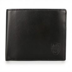 【DAKS】新款家徽LOGO軟皮革多卡零錢袋短夾(藍黑色)230102-01