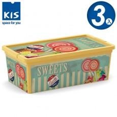 【012002-03】義大利 KIS CBOX 甜點系列收納箱 XS 3入