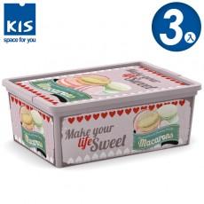【012003-03】義大利 KIS CBOX 甜點系列收納箱 S 3入