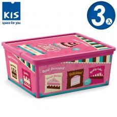【012004-03】義大利 KIS C BOX 甜點系列收納箱 M 3入