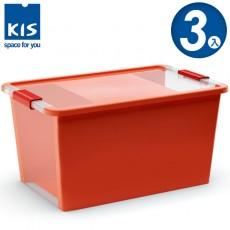 【012014-03】義大利 KIS BI BOX 單開收納箱 L 橘色 3入