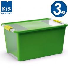 【012014-05】義大利 KIS BI BOX 單開收納箱 L 綠色 3入