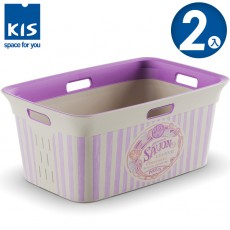 【012018-02】義大利 KIS 洗衣收納籃 45L SAVON系列 2入