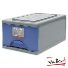 652006-002 D097抽屜式整理箱33L(3入)-藍色