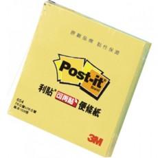 """【3M】利貼可再貼便條紙3""""X3""""黃(* 654-1)"""
