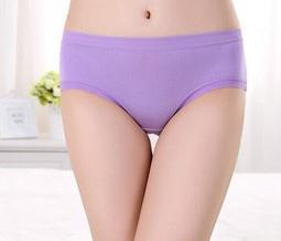 ~紅妝衣箱~(商品編號MK A011紫色) 高級竹炭纖維 純色 糖果色 無痕 少女 內褲  女式