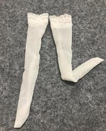 12寸人偶 女兵人 性感花邊長絲襪 (白色)