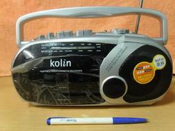 (佳F)故障品~手提音響~歌林 KOLIN KCD-W112~廣播可聽/卡帶只可快轉倒帶無法播放~售出不保不退