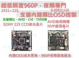 SONY 225晶片/韓國NVP/960P星光級/130萬晶片/監視鏡頭晶片/監視器鏡頭維修/監視器晶片/板橋