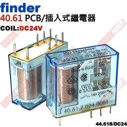 威訊科技電子百貨 40.61 FINDER PCB/插入式繼電器 COIL:DC24V 40.61S/DC24