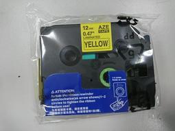 """現貨 BROTHER TZe 副廠 護貝標籤帶 黃底黑字12mm """"TZe-631""""可參考"""