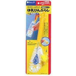 快樂屋 附發票 東京西川 GMP BABY 日本水滴型奶瓶刷(附奶嘴刷)L-105