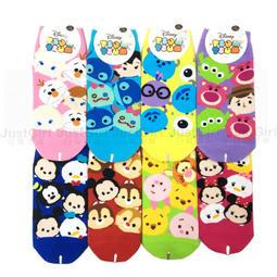 迪士尼 TSUM TSUM 襪子 成人滿版 短襪 船型襪 米奇 毛怪大眼仔 小豬維尼 奇奇蒂蒂 史迪奇 39元 台灣製造
