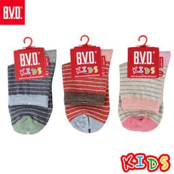 BVD童襪 自在條紋3/4童襪 LINE:qz1967323