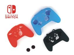 《YM3C》任天堂 Nintendo Switch 控制器 Switch Pro 保護套+磨菇頭 手把 果凍套 矽膠套