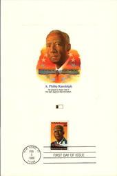 美國首日封 卡片 1989 A. Philip Randolph