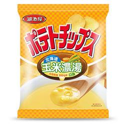[陳媽媽] 湖池屋 平切洋芋片 北海道 玉米濃湯口味 (100g)