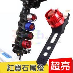 【玩色單車】自行車 紅寶石車尾燈 超亮 後燈 管燈 青蛙燈 甲蟲燈