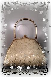 金色 手提包 硬殼手拿包 晚宴包 包包 化妝包 古董包 貼身錢包