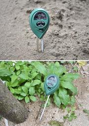*艸衫故居* 三合一園藝檢測儀 土壤濕度計 土壤酸鹼度計 土壤酸度計 土壤PH計 測光器 ph light moist