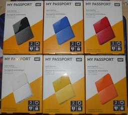 WD My Passport 2T 2TB USB 3.0 2.5吋行動硬碟. 薄型13.8mm(含稅免運送WD硬碟包)