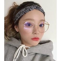 現貨 韓版細框 復古金屬大圓框 男女適用 造型平光眼鏡