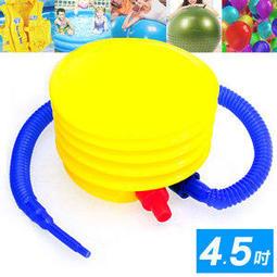 ◎自拍網◎抽充兩用4.5吋腳踩打氣筒P260-45.打氣桶充氣筒充氣桶手動幫浦打氣機PUMP適用游泳池瑜珈球抗力球充氣球