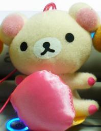 鬆弛熊 懶懶熊 Rilakkuma 懶熊 輕鬆熊 拉拉熊 拉鍊熊 絨毛 弔飾 娃娃 單賣白懶熊一隻 (不可變裝)