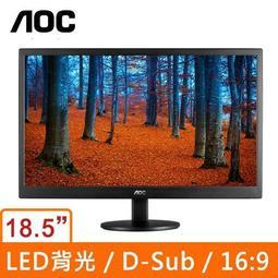 超薄螢幕 AOC E970SWN 18.5吋(16:9)LED液晶顯示器 LED技術面板 時尚髮絲紋設計 節能省電螢幕