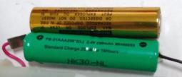 單體1/2AAA 德國百靈(sonic complete) 歐姆龍OMROM電動牙刷電池 2.4V 適合DIY 自行換修