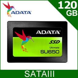 ADATA 威剛 SU650 120G 120GB 2.5吋7MM SATAIII SSD固態硬碟
