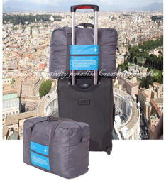 【Folding旅行袋】韓系出國外出拉桿箱行李箱旅行包收納袋摺疊式整理包衣物手提包手提袋側背包32L行李袋