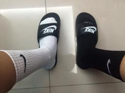 NIKE精製棉緩震型 長襪 中筒襪子 大LOGO 白色 黑勾 白襪 運動襪 champion huf 拖鞋