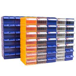 【現貨】螺絲盒 積木式 自由組裝 零件盒工具櫃樂高分類物料盒螺絲塑料盒收納盒抽屜式元件盒 分類 收納